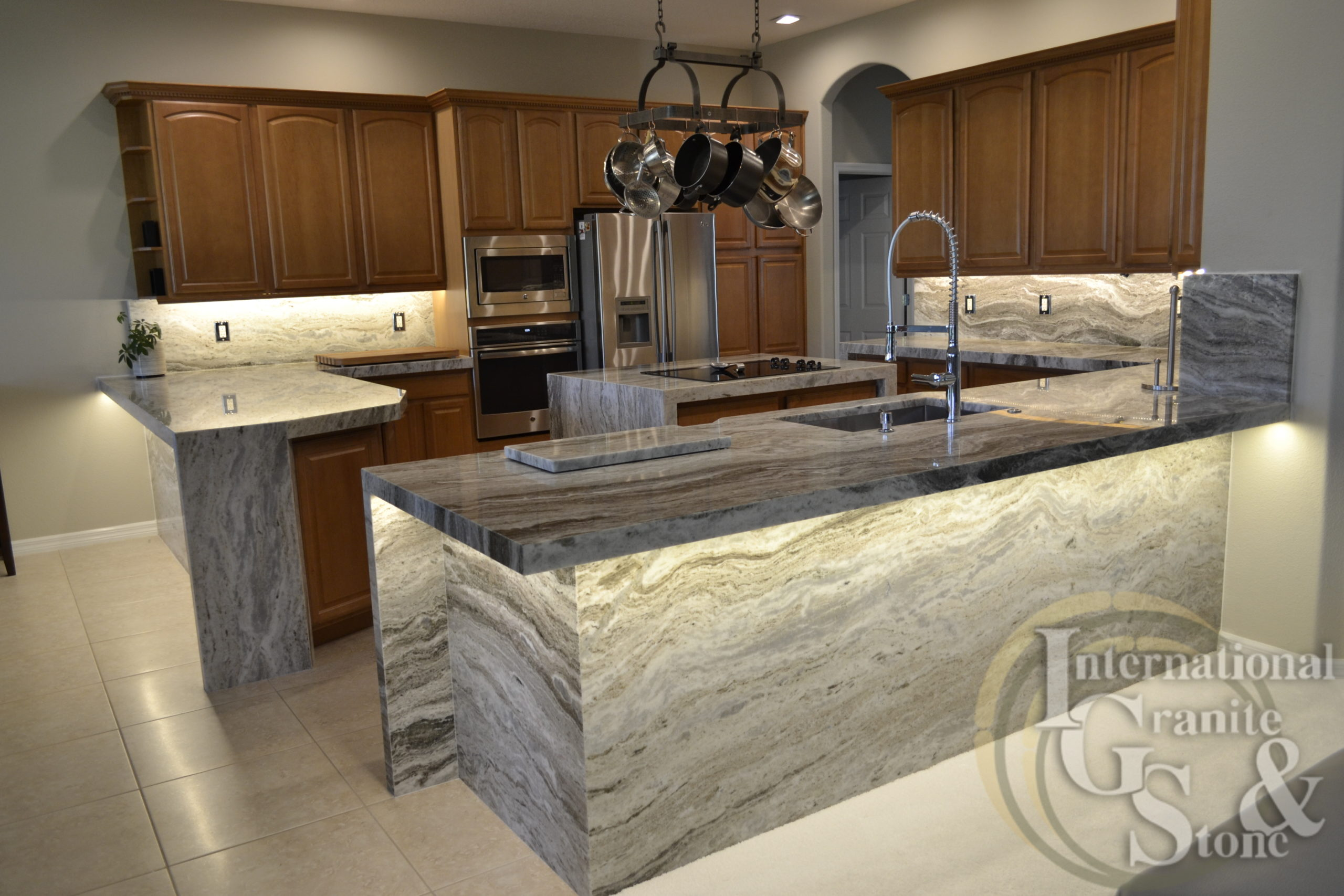 Granite Countertops Spring Hill Brown Fantasy
