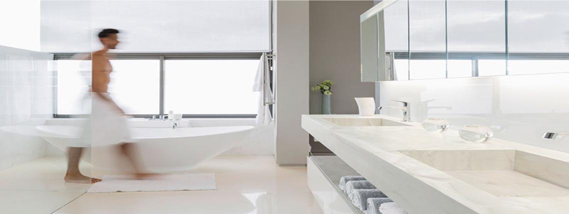 White Porcelain Bathroom Countertops in Sarasota Florida