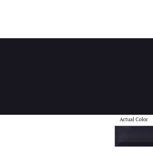 Daltile Color Wave CW20 3x6 Midnight Black