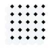 Daltile Octagon & Dot 6501 21 Matte White Black Dot