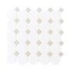 Daltile Octagon & Dot 6501 44 Matte White Gray Dot