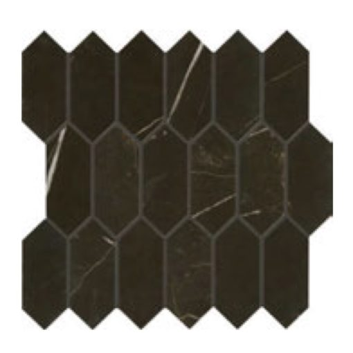 Daltile Marble Attache MA83 2x5 Hex Nero