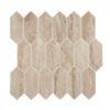 Daltile Marble Attache MA85 2x5 Hex Travertine
