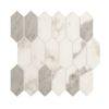 Daltile Marble Attache MA87 2x5 Hex Calacatta