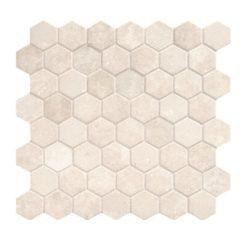 Daltile Vintage Hex VH05 1.5 Inch Hexagon Antique Beige