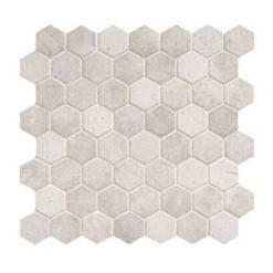Daltile Vintage Hex VH06 1.5 Inch Hexagon Wisdom White