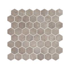 Daltile Vintage Hex VH07 1.5 Inch Hexagon Artifact Gray