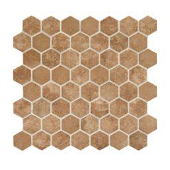 Daltile Vintage Hex VH08 1.5 Inch Hexagon Legacy Sepia