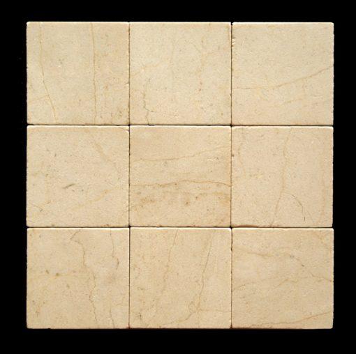 Crema Marfil 4x4 Tumbled Tile