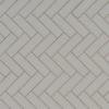 Gray Glossy Herringbone Mosaic
