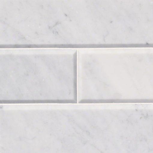 arabescato carrara 4x12 honed and big beveled | Countertops