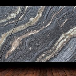SILVER BROWN WAVE MARBLE