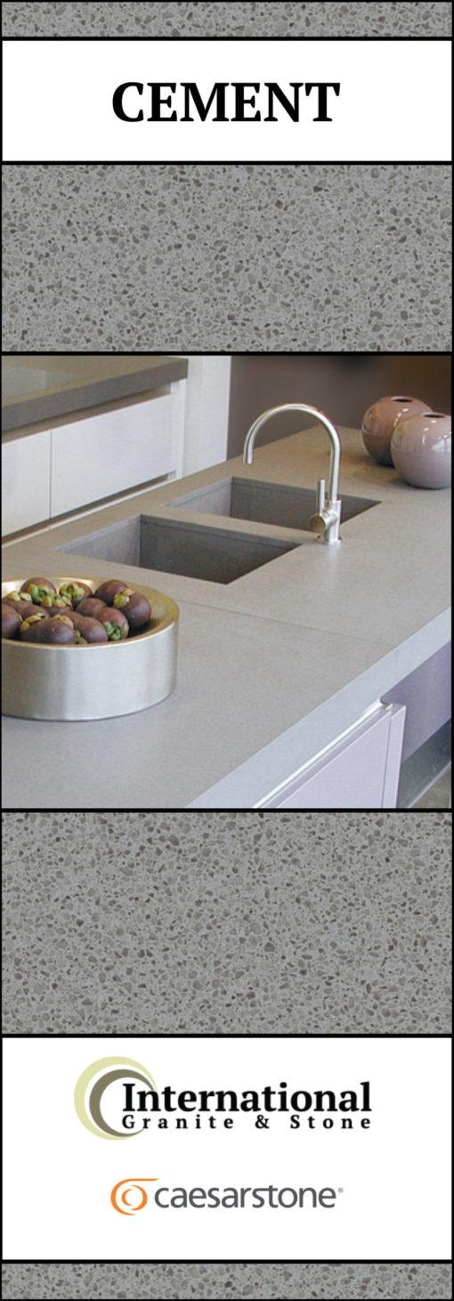Cement Caesarstone Quartz Full Slab Pinterest