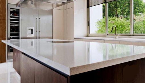 Ice Snow Caesarstone Quartz Kitchen