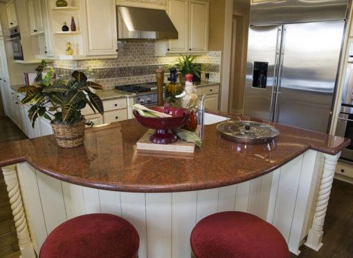 Malibu Red Granite Kitchen