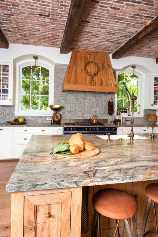 Fusion Leathered Quartzite Kitchen