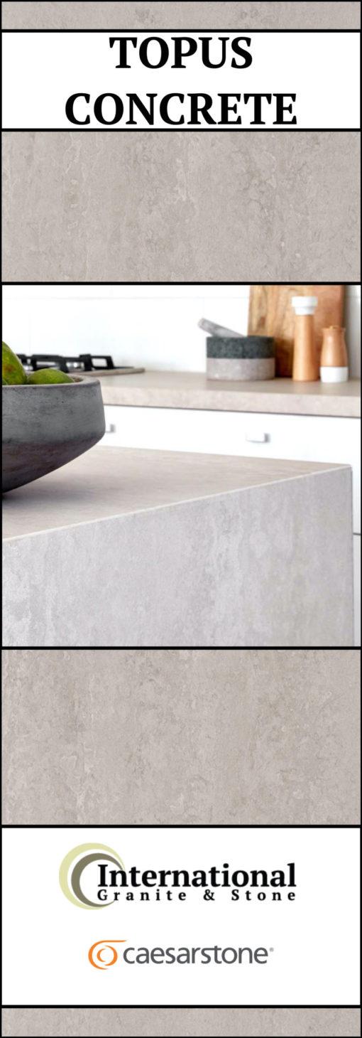 Caesarstone Topus Concrete Quartz Full Slab Pinterest