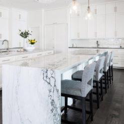Whimsical Sea Pearl Quartzite Dream Kitchen
