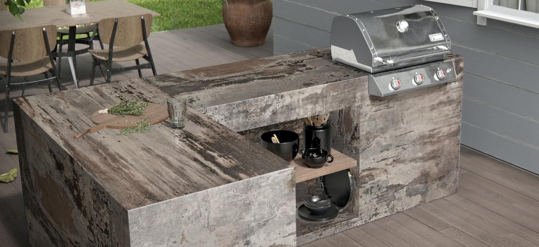 Drkton Trilium Outdoor Kitchen Countertops Natural Stone Countertops
