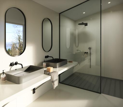 Faro White Silestone Quartz Bathroom Countertops