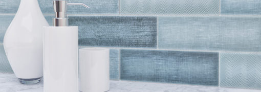 Oxford Blue Anthology Collage Tile Backsplash Product