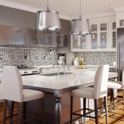 Terrace Anthology Backsplash Tile in Kitchen