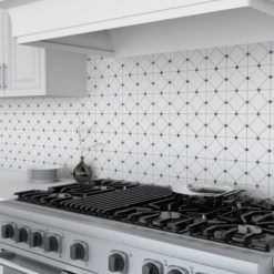 Limelight Silver Backsplash Tile in Kitchen