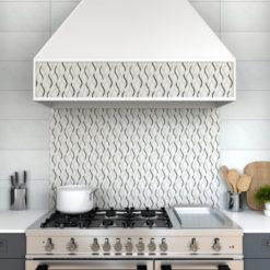 Symmetry Silver Anthology Backsplash Tile