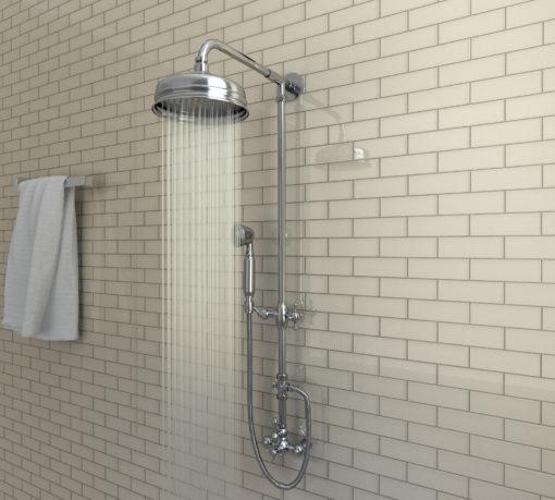 Bamboo 2x6 Backsplash Tile in Bathroom Shower