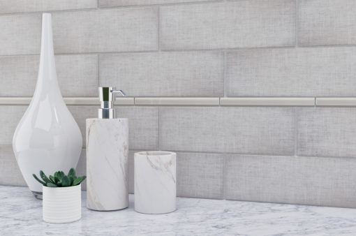 Pencil Haze Anthology Tile Backsplash
