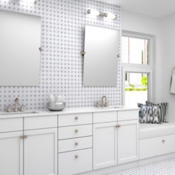 Manor Gray Buttons Tile