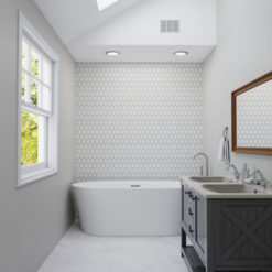 Jeweled Hex Pale Beige Tile