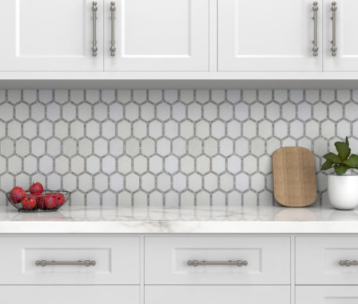 Jeweled Hex Manor Gray Tile