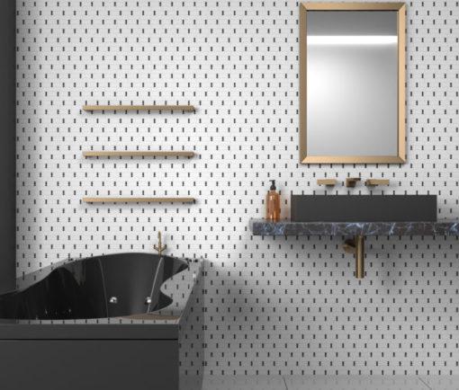 Sable Black Dominos Tile