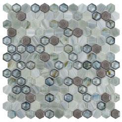 Brocade Lagoon Glassique Tile
