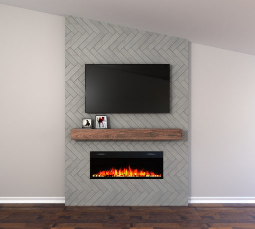 Cloud 3x12 Tile Fireplace