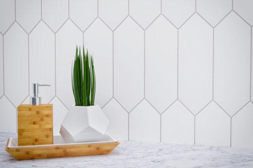 Blanco Pickett Tile