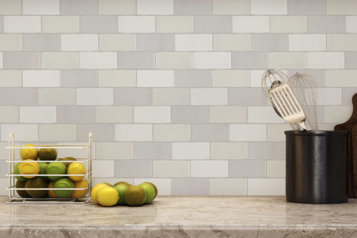 Meringue Tile Backsplash