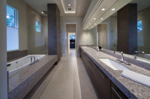 Alpina White Silestone Quartz Bathroom