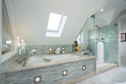 Aria LG Viatera Quartz Bathroom