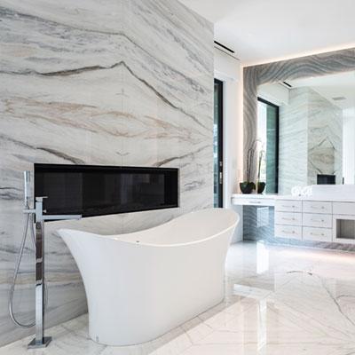Bianco Lasa Fantastico Marble Bathroom