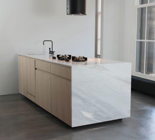 Bianco Lasa Fantastico Marble Kitchen
