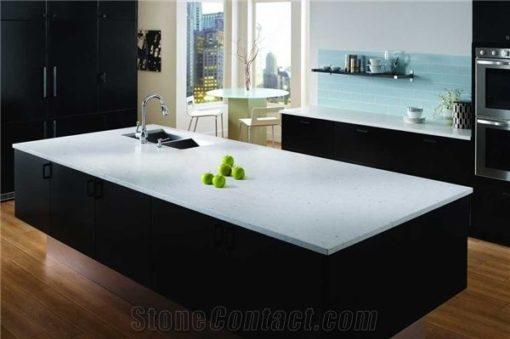 Bianco River Silestone Quartz Kitchen2
