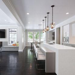 Bianco Sands Quantum Quartz Kitchen