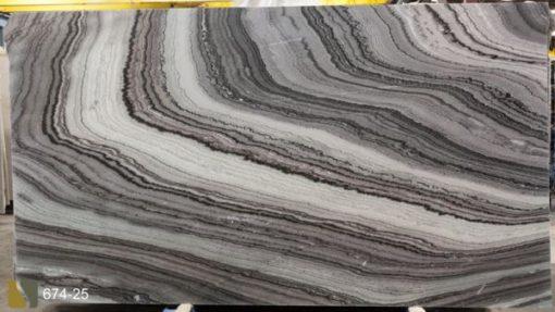 Black Lightning Marble Slab