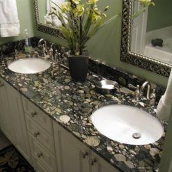 Black Mosaic Granite Bathroom