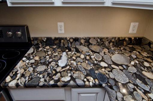 Black Mosaic Granite Counter
