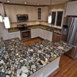 Black Mosaic Granite Kitchen
