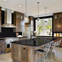 Black San Gabriel Granite Kitchen