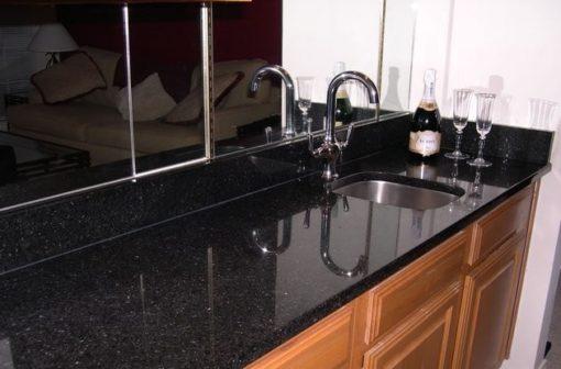 Black San Gabriel Granite Kitchen1